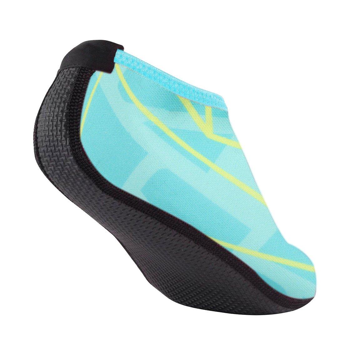 Zapatos de agua descalzo Nlife M -XXXL) Cyan Calcetines Aqua para la  piscina de surf en la playa Swim Yoga aeróbicos (hombres y mujeres 42712fb1612