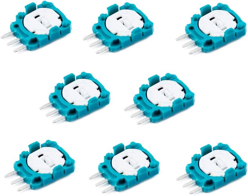 PeakLead 8PCs Sensor de Potenciómetro de Repuesto Trimmer para PS3, PS4, Xbox One, Switch Pro Controllers, Mando Inalámbrico Trim Pot Resistors Piezas de Repuesto para el Joystick Analógico