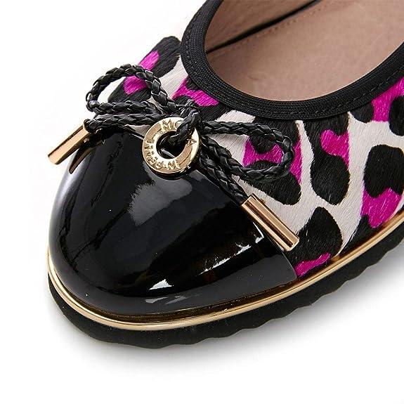 Rosa Leopardo Bailarinas es In Amazon Rosa Moda Pelle Para Mujer BEPXxYwq