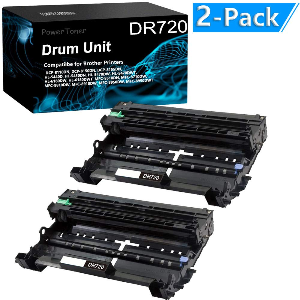 2PK DR720 Drum Unit For Brother HL-5440d 5450dn HL-6180DW HL-6180DWT DCP-8110DN
