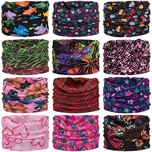 Wide Headbands Headwear Head Wrap Sport Sweatband for Men and Women,Workout,Yoga,12-in-1 12PCS/9PCS/6PCS Multifunction Magic (Costumes Out Of Normal Clothes For Halloween)