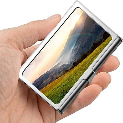 Otoño Hermoso paisaje Valle Nubes Diseñador Estuche para tarjetas de presentación Impermeable Portatarjetas de visita Profesional Metal 3.81x 2.7 X 0.29 pulgadas Estuche moderno para tarjetas de pre: Amazon.es: Oficina y papelería