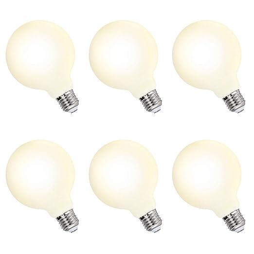 Lamparas Bombillas de LED Grandes Edison E27 6W G95 Equivalencia Bombilla Incandescente 60W Luz Calida 3000K para Lampara Colgante de Techo Lot de 6 ...