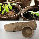 240pcs Eco Friendly & Biodegradable Peat Pots Seedling Nursery Trays Plant -for Plant Starters,Seedlings,Saplings,Flowers,Vegetables,Garden,Backyard,Kitchen Seed Planting Grower