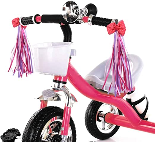 2 Pcs Handlebar Streamers Tassels For Kids Bicycle Bike Cycling Tricycle Gift GG