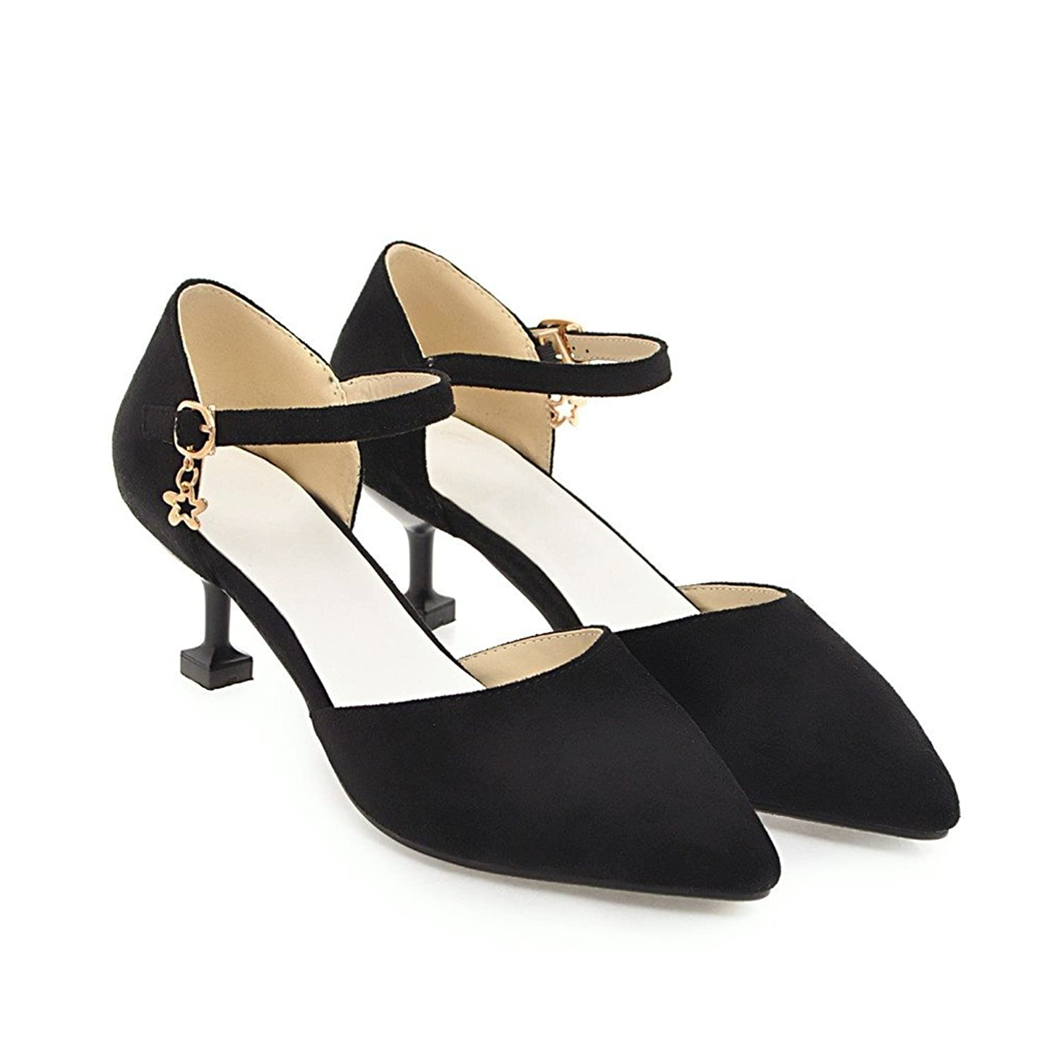 CXQ-Talons QIN&X Women's Pointy Toe Prom Bouche Peu Profonde Stiletto High Heels Pompes Chaussures,Black,41