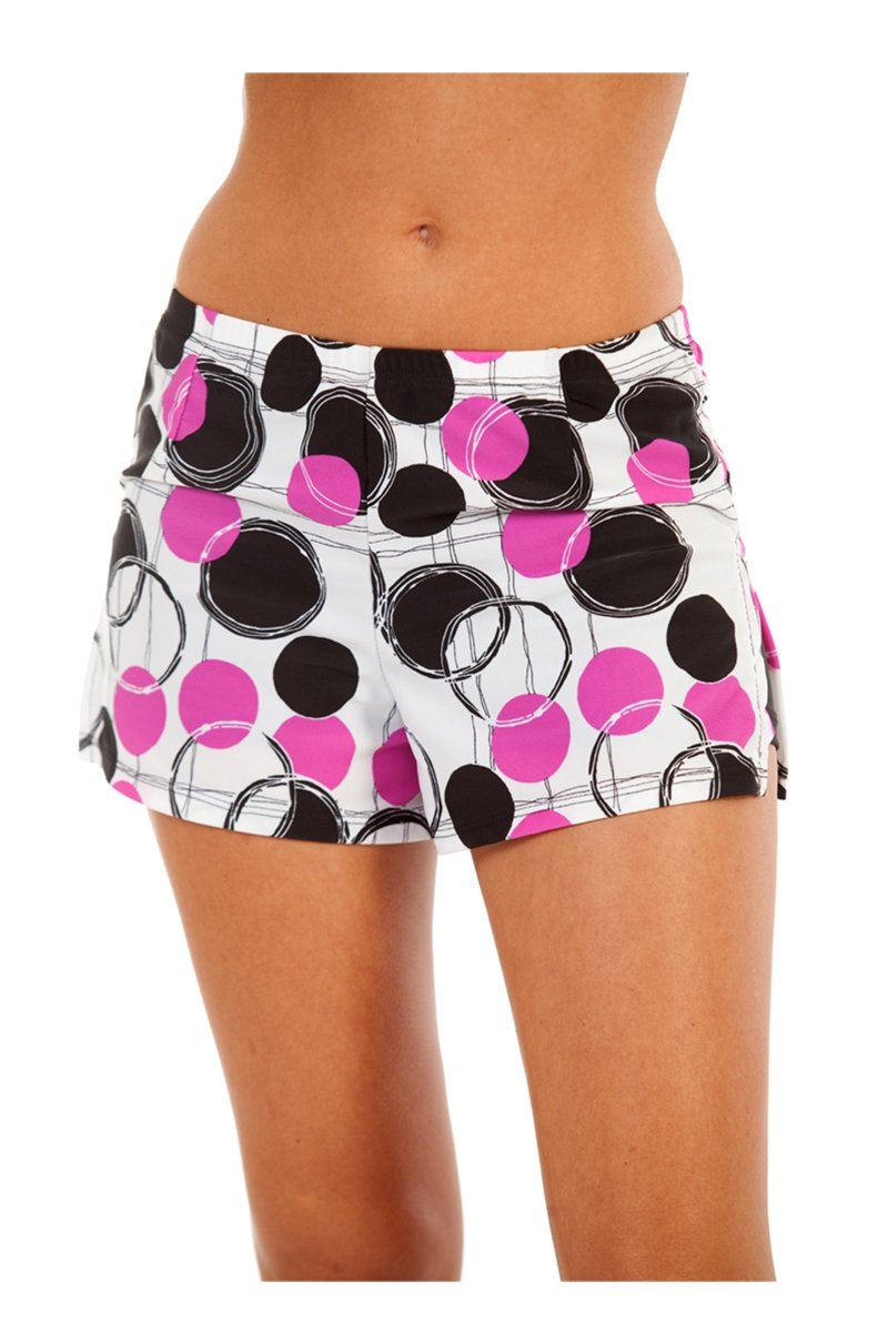 Show No Love Women's Tournament Performance Skort in fushia ball print (size XS)
