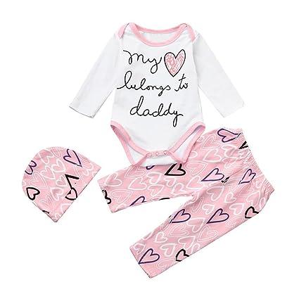 5f82efd85 Amazon.com  Gotd Toddler Infant Baby Girl Boy Clothes Christmas Long ...