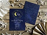 Baby Shower Invite - Love You to the Moon and Back - Set of 20 - Moon and Stars Invitation - Party Invitation