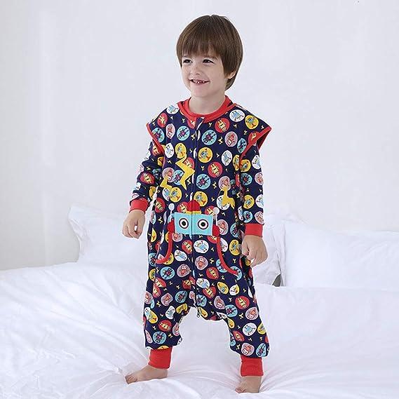 Sacos de Dormir para niños 1.5 Tog con Piernas Cremallera Frontal 1-3 Años: Amazon.es: Bebé