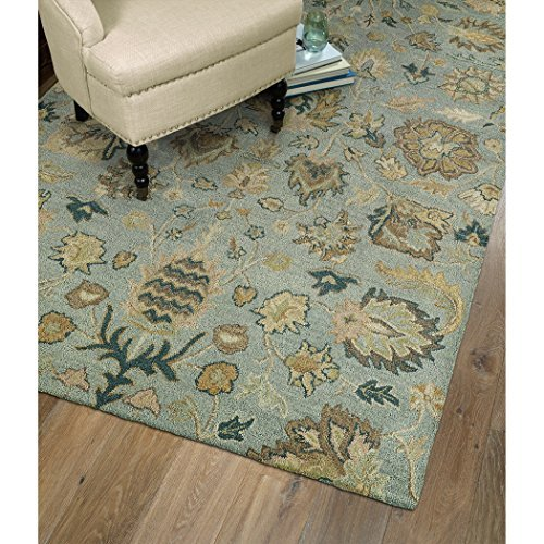 Kaleen Rugs Helena Collection 3203-56 Spa Hand Tufted 8' X 10' Rug