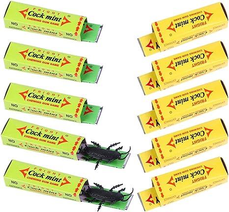 Amosfun 10pcs de Chicle Cucaracha Cucaracha de Halloween Broma ...