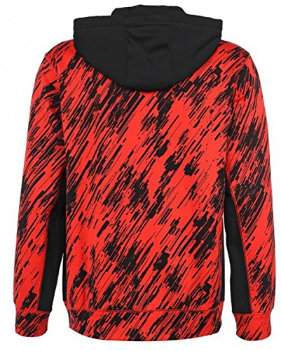 Nike Men's Therma-Fit KO Print Full Zip Hoodie-Red/Black-Medium