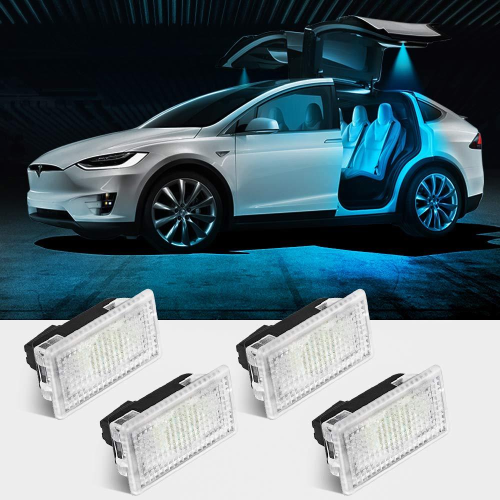 7 Colors Changing USB Charging Mat Luminescent Cup Pad 2pcs LED Car Cup Holder Lights for Tesla for Tesla Roadster Model S Model X Model 3 SUV