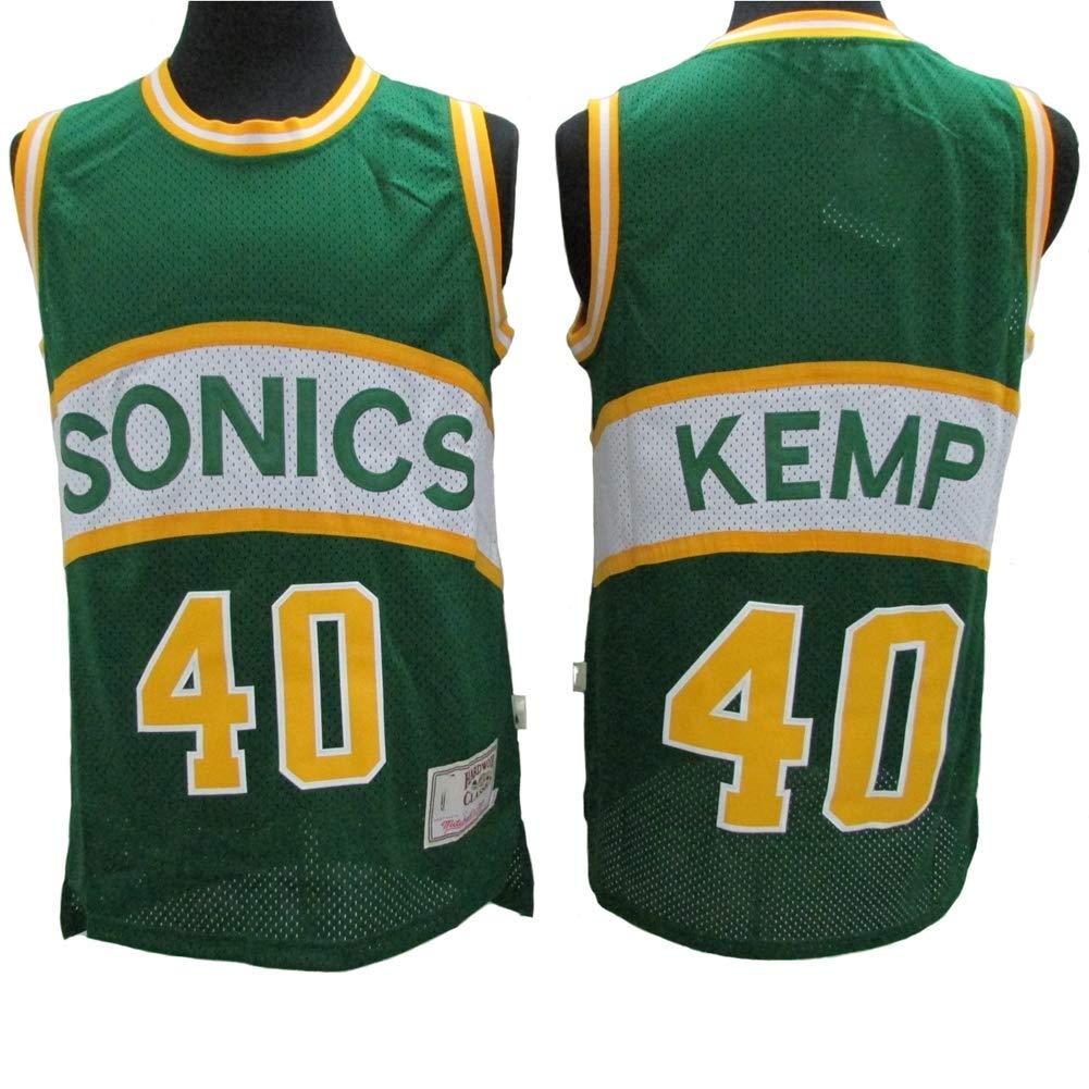 LLYLL Jersey - Oklahoma City Thunder 40# Shawn Kemp Camisetas de ...