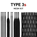 String King Type 3s Lacrosse Mesh Kit with Mesh & Strings (Black)