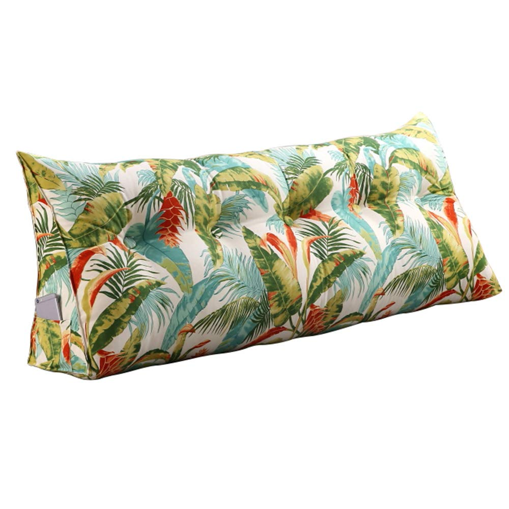 Lumbar Pillow Cailin, Printed Triangle Pillow, Cotton, Bedroom Bed Cushion, Sofa Long Pillow, Home (Size : 802350cm)