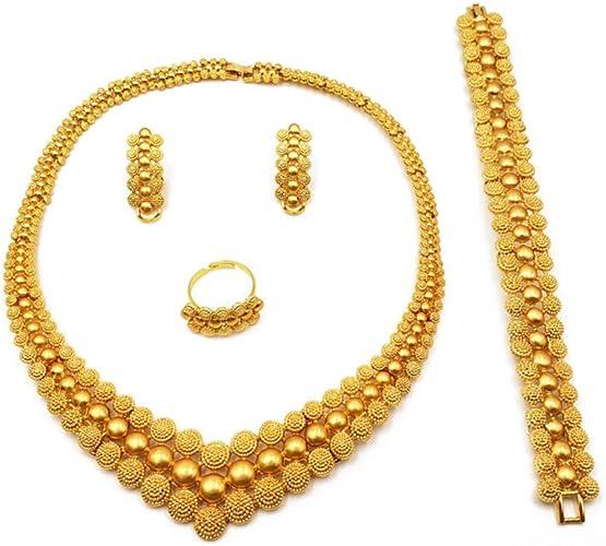 Yellow African Nigerian Jewelry Set
