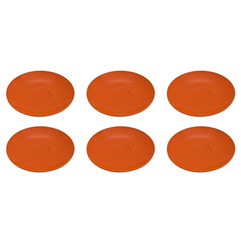 Flirt by R/&B 516159 Doppio Kaffee-Untere//Unterteller//Untertasse /Ø 16 x 2 cm orange 6er Pack