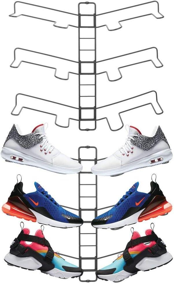 mDesign Schuhb/ügel 3 St/ück der praktische Schrank Schuhhalter und Stiefelhalter zum Aufh/ängen