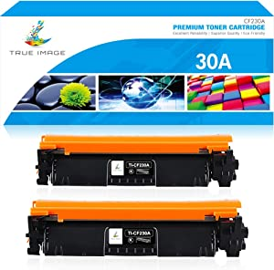True Image Compatible Toner Cartridge Replacement for HP 30A CF230A 30X CF230X Laserjet Pro MFP M203dw M227fdw M227fdn M203d M203dn M227d M227sdn M227 M203 (Black, 2-Pack)