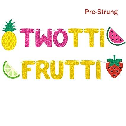 Amazon.com: Twotti Frutti Bandera de cumpleaños Twotti ...