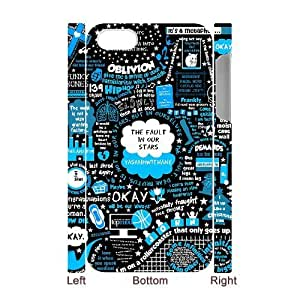 The Fault In Our Stars DIY 3D Cover Case for Iphone 4,4S,personalized phone case ygtg-318956 by supermalls
