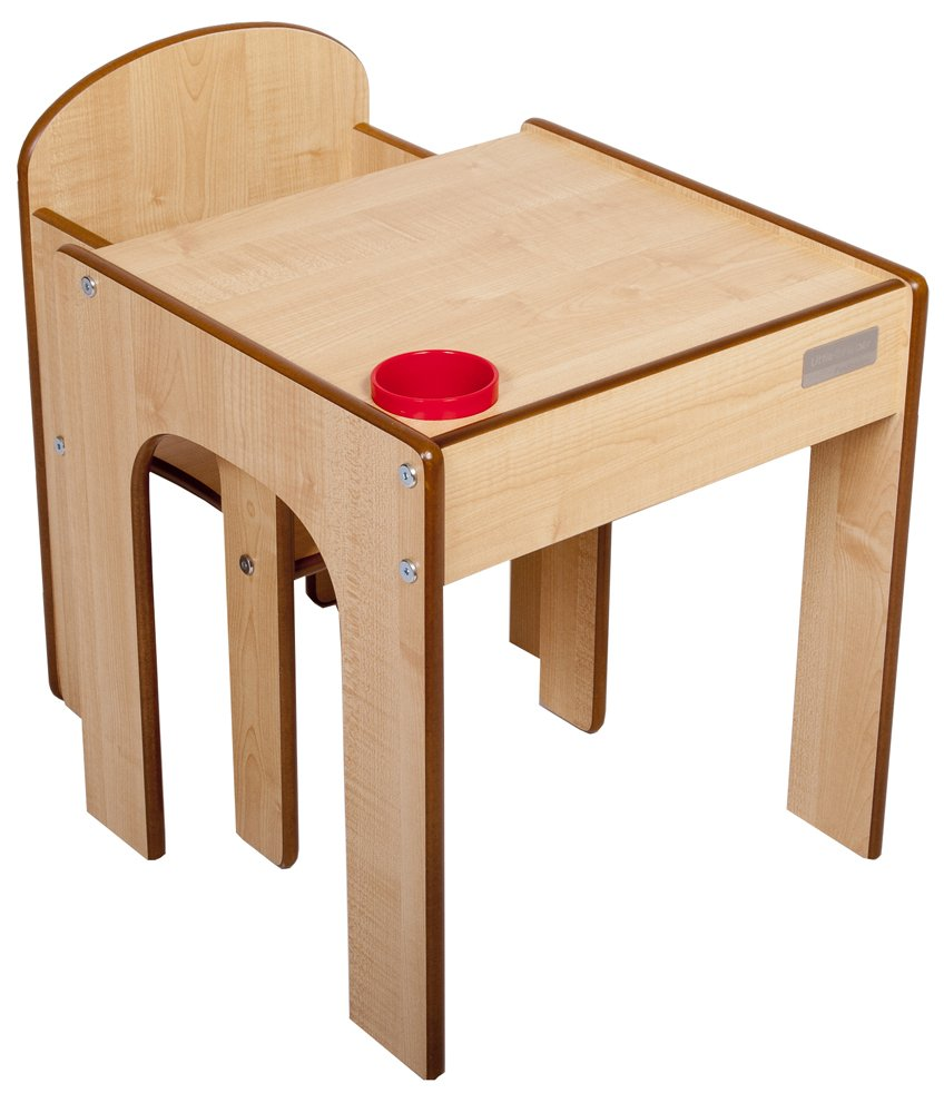 Little Helper FunStation Toddler Table and Chair Set (Maple) FS08-1