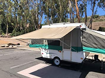 Ez Lite Campers Pop Up Tent Trailer Camping Trailer Rv Bag Awning 7ft Beige Awnings Screens Accessories Amazon Canada