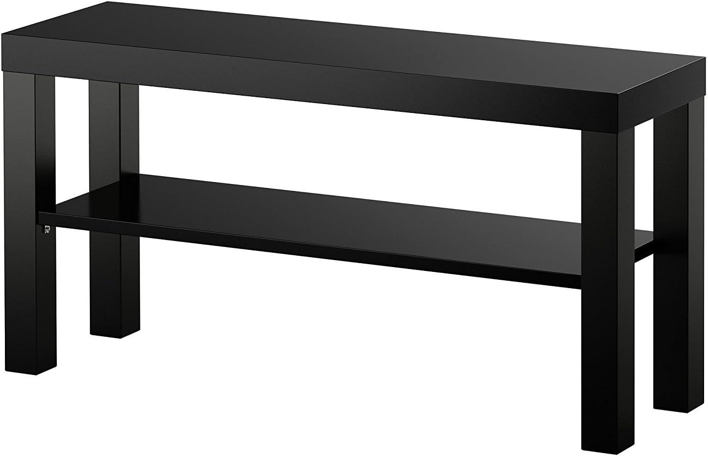 IKEA LACK Mesa auxiliar mueble TV negro: Amazon.es: Hogar