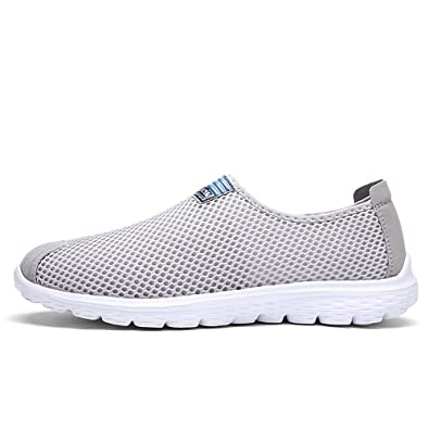 Herren Wanderschuhe Mesh Textil Athletic Slip auf Fahion Sneakers