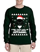 Allntrends Men's Long Sleeve I Find Your Lack Of Holiday Disturbing Ugly Xmas