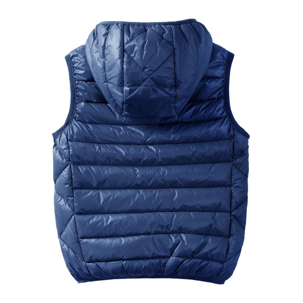 M2C Boys Front Zip Packable Hooded Down Puffer Vest,9/10 Navy