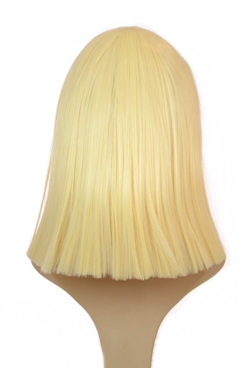 Amazon.com : Blonde Sia Thick Blunt Bob Wig | Blunt Fringe | Blonde Cleopatra Style Wig : Beauty