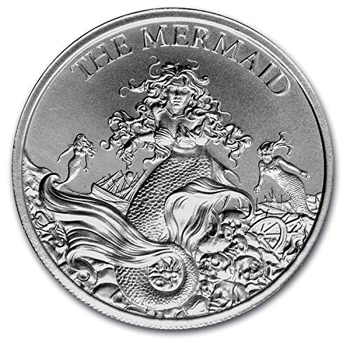 Cryptozoology Collection The Mermaid 2 oz .999 USA Made Chubby BU Round