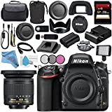 Nikon D750 DSLR Camera 1543 AF-P DX 10-20mm VR Lens 20067 + 72mm 3 Piece Filter Kit + Carrying Case + 256GB SDXC Card + Card Reader + Professional 160 LED Video Light Studio Series Bundle