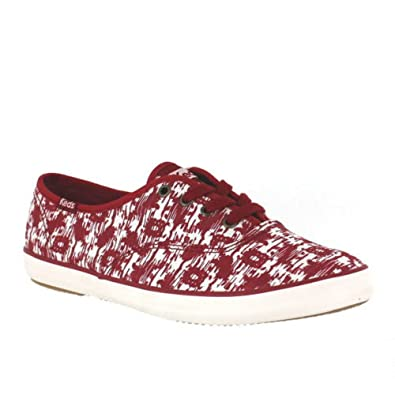 dcc17bbce05a Image Unavailable. Image not available for. Color  Keds Women s Champion  Ikat Red Oxford ...