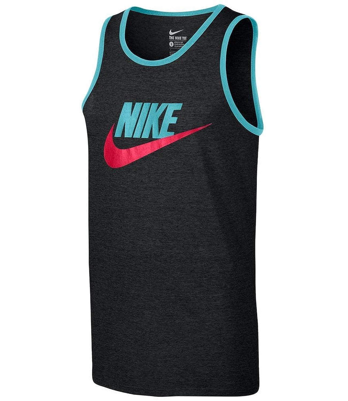 red New Nike Mens Ace Logo Tank Top Tri-blend black gym white gray tanktop