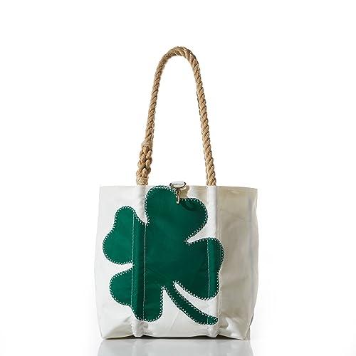 Amazon.com: Mar bolsas reciclado Sail paño trébol de cuatro ...