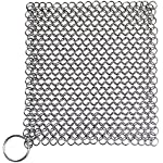 Blisstime Cast Iron Cleaner Premium Stainless Steel Chainmail Scrubber (1)