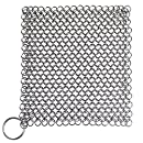Blisstime Cast Iron Cleaner Stainless Steel Chainmail Scrubber, XL 8x6