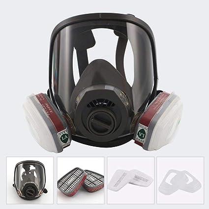 Hamkaw Máscara de Cara Completa, máscara de Pintura a Gas, máscara de pesticidas a
