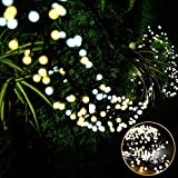 Litake LED String Lights, 26ft 400 LEDs Waterproof Hanging Indoor Outdoor Globe String Lights, 8 Modes Fairy Decorative Lights for Bedroom, Patio, Garden, Party, Wedding, Porch (Warm White+Daylight)