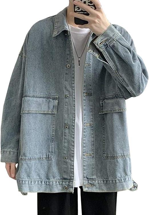 YiTongデニムジャケット メンズ カジュアル ジャケット 春秋 ブルゾン ショートコート ゆったり ジージャン メンズ アウター