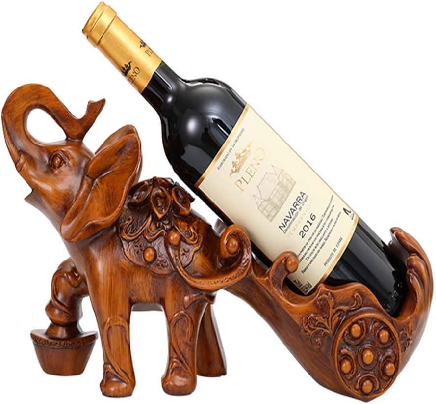 ワインラック/象のワインの棚、金属彫刻実用的な彫刻家の装飾インテリア工芸