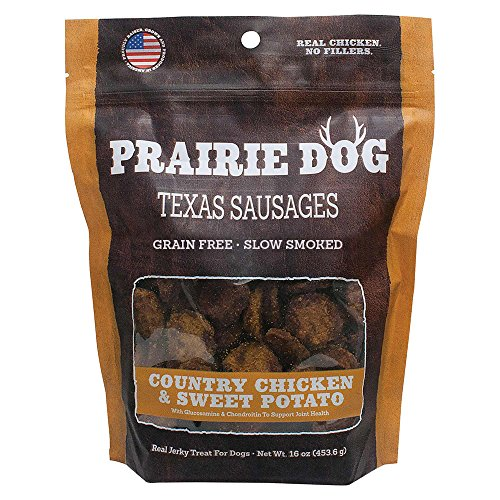 Prairie Dog Pet Products Country Chicken & Sweet Potato, Texas Sausages 16Oz