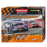 Carrera GO!!! DTM Touring Contest Slot Car Race Track - 1:43 Scale Analog System - Includes 2 Cars: BMW and Audi and 2 Controllers - Electric-Powered Set for Ages 8 and Up