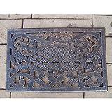 Oakland Living Mississippi Cast Aluminum Doormat, Antique Bronze