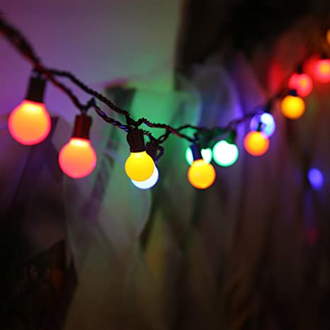 maxinda commercial grade outdoor string lights ballsteady on weatherproof fairy lights colored13