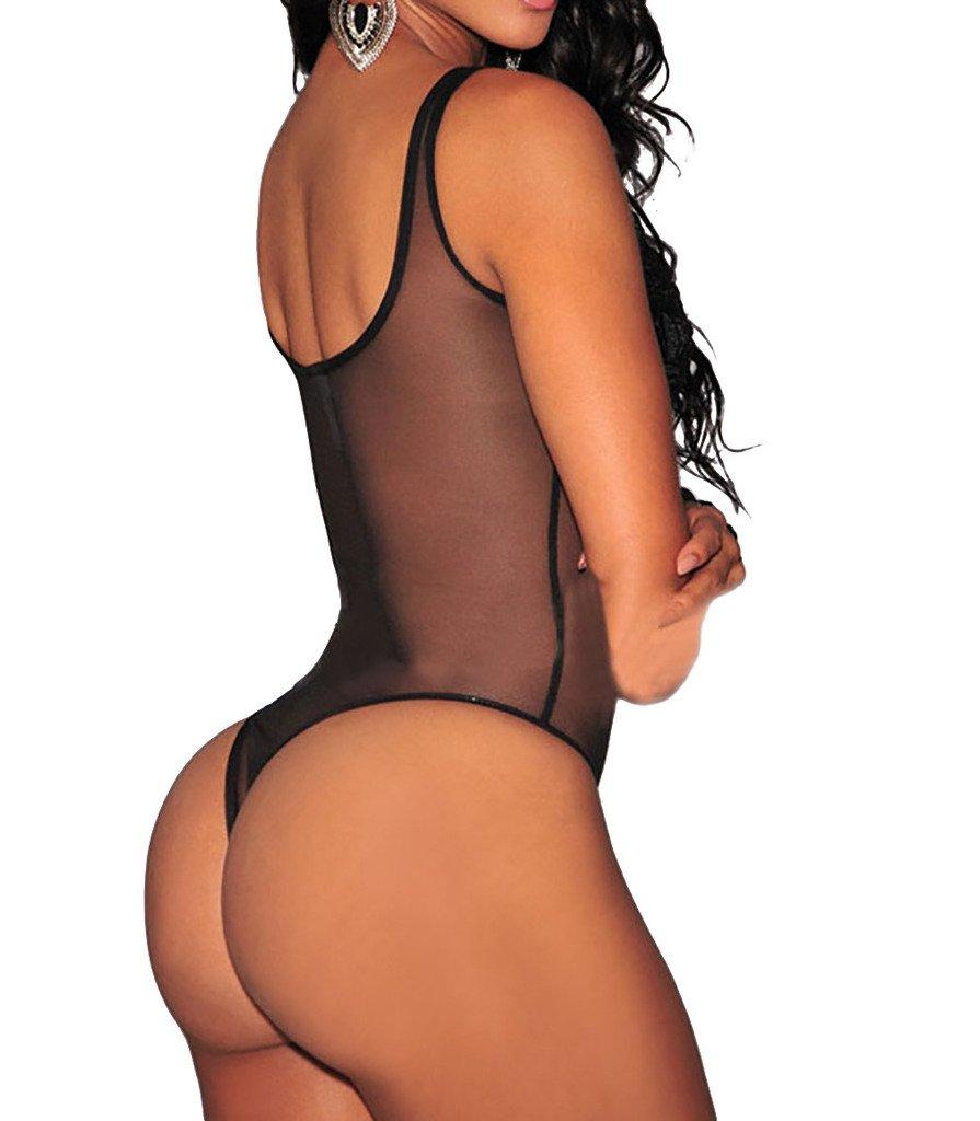 V-SOL Mono Mujer Conjunto Braga Sin Manga Bordado Floral Bodysuit (Negro): Amazon.es: Deportes y aire libre
